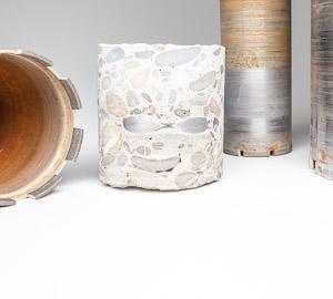 Jadro z betónu a vrtáky s diamantovým segmentom